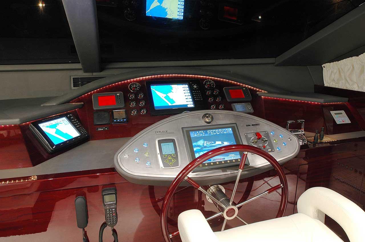 Amer Yacht Amer 86 Lady Federica TIMONERIA-2-WHEELHOUSE-25