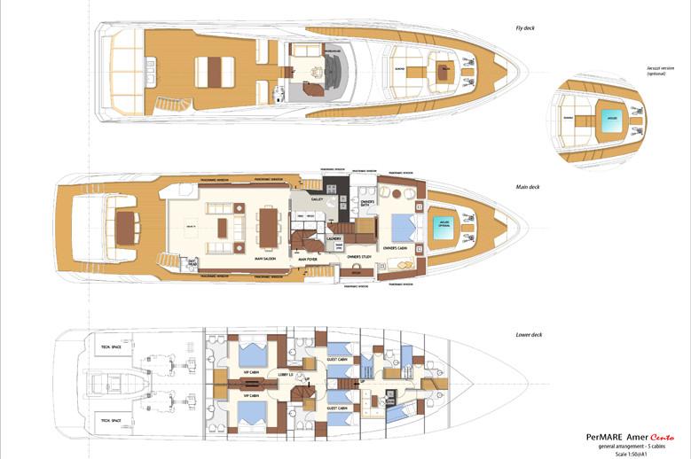 Amer Yacht - Amer CENTO 105_ga_widebody_r8_5cabine-779x518