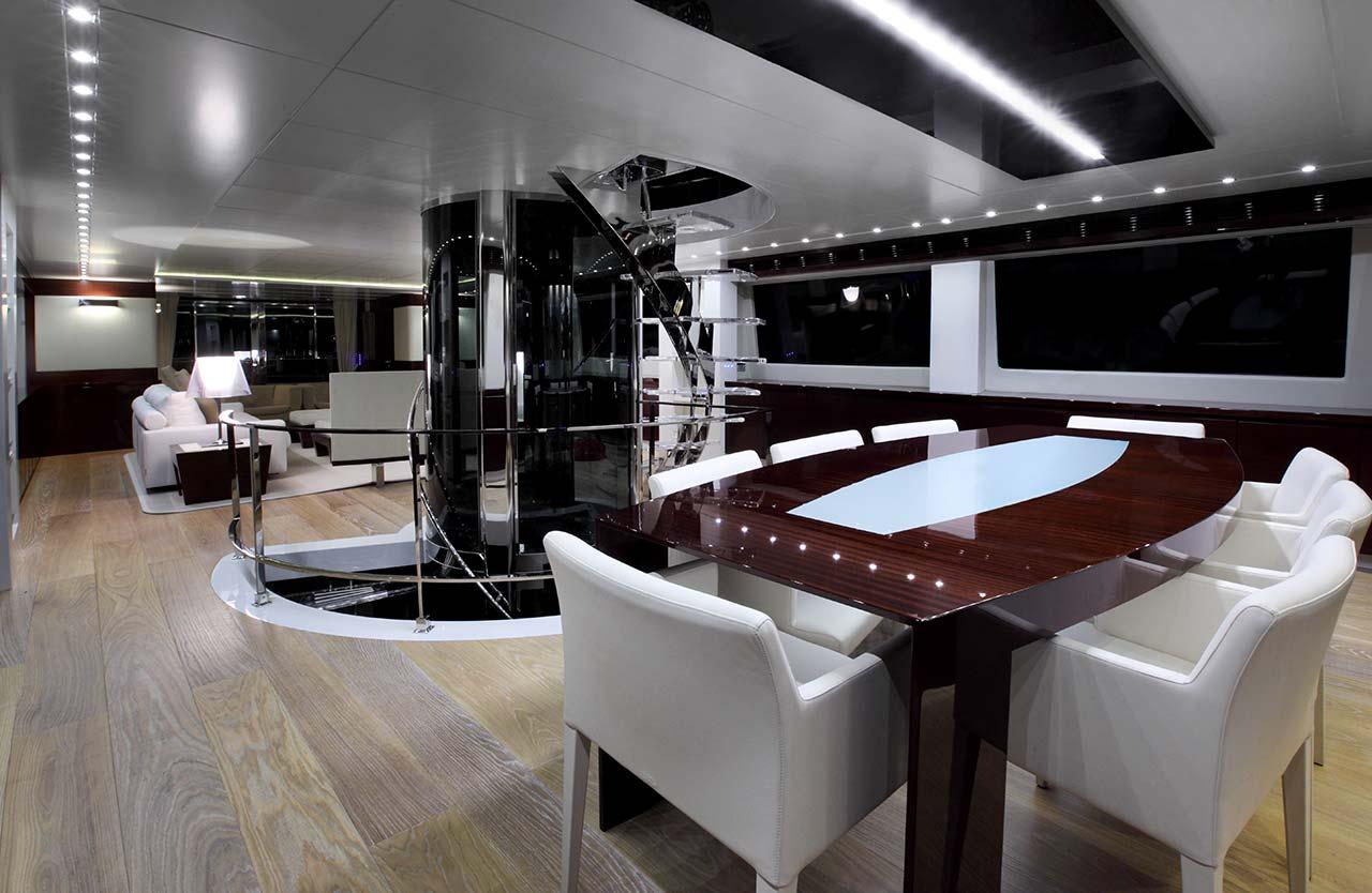 Amer Yachts - Amer 116 SALA-DA-PRANZO-DINING-ROOM