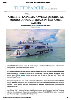 2017 08 – Amer 110 – Launch – Tuttobarche – IT
